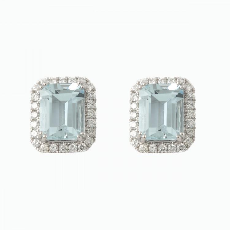 cff46defd937 Anillo solitario de oro blanco 18 kilates con rosetón de diamantes con orla  de brillantes y